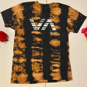RVCA Custom Tie Dye T Shirt Black Large